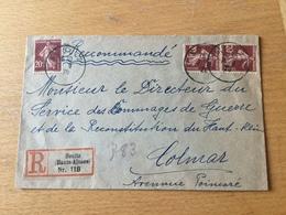 SCH2451 France 1920 Lettre Récommandée De Soultz Pour Colmar - France