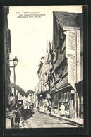CPA Caen, Rue Montoir-Poissonnerie - Caen