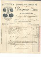 Haute Garonne 1907  Toulouse Droguerie BACQUIER FRERES - Chemist's (drugstore) & Perfumery