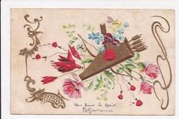 CP GAUFRE Carquant Flêches Fleurs - Fantaisies