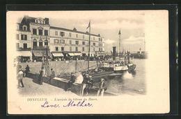 CPA Honfleur, L'arrivee Du Bateau Du Havre - Honfleur