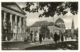 """POSEN 1943 Posen = Podznan """" Das Theater """" Frankierter Bedarf > Köln - Posen"""