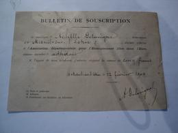 BULLETIN DE SOUSCRIPTION DE 1904. ENSEIGNEMENT LIBRE DANS L EURE ADHERENT DE MESNIL SUR L ESTREE - France