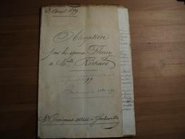 ACTE NOTARIE DE 1899. GUERBAVILLE. SEINE INFERIEURE. 76 MAITRE CORNIQUET. OBLIGATION POUR LES EPOUX F... - 1800 – 1899