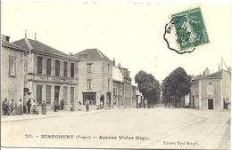 1910 - Carte Postale Illustrée Mirecourt (Vosges), Convoyeur EPINAL A CHAUMONT, Type I, Bloc Dateur Bâtons - Marcophilie (Lettres)