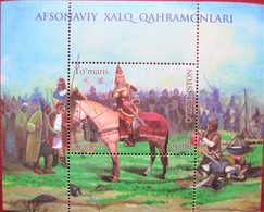 Uzbekistan  2019 The Queen Of Massages Tumaris Of Sakia .  Horses  S/S  MNH - Ouzbékistan