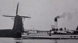 MOULIN A VENT - MOLEN - WINDMILL - WIND MILL - Netherlands - Cruise Ship In Front Of ALKMAAR Mill - Mulini A Vento