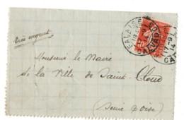 FALAISE Calvados Cachet R84c(A3) 1914 Semeuse 10c Rouge N° 138 IA - 1877-1920: Semi-Moderne