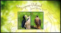 Singapore (2019)  - Block -   /  Joint Issue With Poland - Falcon - Birds Of Prey - Emissioni Congiunte