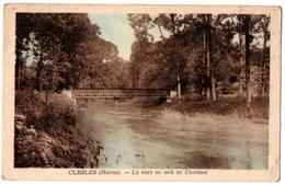 51 CLESLES - Le Pont Du Gué Du Chateau - Cpa Marne - France