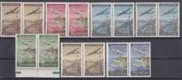 Yugoslavia Republic 1947 Planes Mi#515-520 Pairs + Error Mi#517 II/I - Inverted Letter Pair, Mint Never Hinged - 1945-1992 République Fédérative Populaire De Yougoslavie