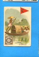 OLI344, La Poste Au Deccan, Post Stamp Ianna, Chicorée, Belle Jardinière, C. Berliot à Lille, 7.2 Cm X 10.6 Cm - Advertising