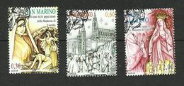 Saint-Marin N°2131 à 2133 - Oblitérés