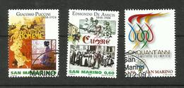 Saint-Marin N°2144, 2154, 2162 - Oblitérés