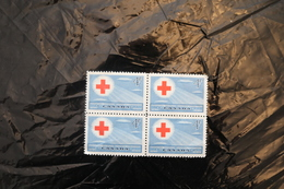 Canada 317 Red Cross Block Of Four MNH 1952 Singles Available Ask A04s - Nuovi
