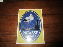 Carte Postale Publicité POTASSE D'ALSACE - Advertising