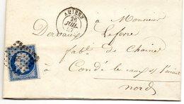 Somme - LAC Affr N° 14A Obl PC 65 Càd Type 15 Amiens - 1849-1876: Klassieke Periode