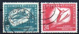 """(DDR-BM1) DDR """"Wintersportmeisterschaften Der DDR, Oberhof"""" Mi 280/81  Sauber Bedarfsgestempelt - [6] Democratic Republic"""