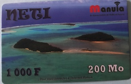 WALLIS ET FUTUNA  -  Prepaid   -  NETI  -  1000 F  -  200 Mo - Wallis Und Futuna
