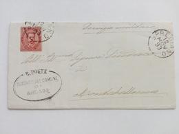 1893 - Lettera Dal Sindaco Di Arcade (TV) Al Servizio Militare Del Comune Di Montebelluna (TV) - 1878-00 Umberto I