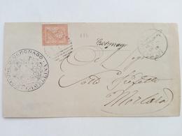 1883 - Busta Inviata Dal Comune Di Cergnago (PV) Al Prefetto Di Mortara (PV) - 1878-00 Umberto I