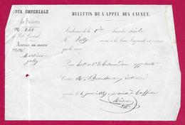Bulletin De L'Appel Des Causes - Cour Impériale De Poitiers - Année 1857 - Décrets & Lois
