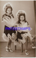 128919 ARGENTINA REAL PHOTO COSTUMES DESGUISE CARNIVAL TWO WOMAN DANCER POSTAL POSTCARD - Argentina