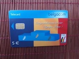 Phonecard Olympic Team Belgium Used - Avec Puce