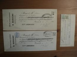 LOT DE 3 DOCUMENTS DU SERVICE DES EAUX DE LA VILLE D EVREUX. 1910 / 1926 H. HERSANT CONCESSIONNAIRE / CONCESSION D EAU - Elektriciteit En Gas