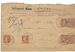 MUTZIG Cachet Provisoire 15.7.20 Sur Devant De Lettre - 1877-1920: Semi Modern Period