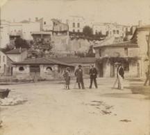 """Stéréo Amateur Légendée """"Bourg-sur-Gironde - 11 Septembre 1898 . Animée . Lavoir . - Stereo-Photographie"""