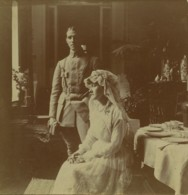 2 Stéréos Amateur 1916 . Mariage Pendant La Guerre De 1914-18 . Miltaire . - Photos Stéréoscopiques