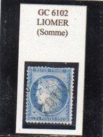 Somme - N° 60C Obl GC 6102 Liomer - 1871-1875 Cérès