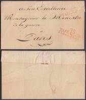 """BELGIQUE LETTRE  DE  TIRLEMONT """"94 TIRLEMONT """" VERS PARIS SANS CONTENU  (BE) DC-6454 - 1814-1815 (Gouv. Général De La Belgique)"""
