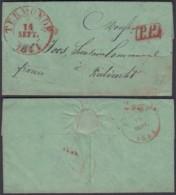 """BELGIQUE LETTRE DATE DE ZELELE 13/10/1841 """"TERMONDE """" VERS KIELTRECHT (BE) DC-6461 - 1830-1849 (Belgique Indépendante)"""