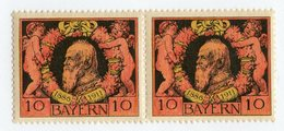 W-13792  Mi.# 93B**pair 1911 - Bayern (Baviera)