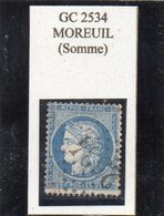 Somme - N° 60A Obl GC 2534 Moreuil - 1871-1875 Cérès