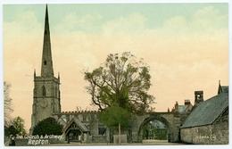 REPTON : THE CHURCH & ARCHWAY - Derbyshire