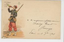 PUBLICITE - ALCOOL - Jolie Carte PUB  Poilu Buvant Du Vin D'Algérie - Signée JULES MONGE - Publicidad