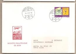 Svizzera - Busta Viaggiata Per Sion - 1981 - Storia Postale