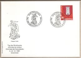Svizzera - Busta Con Annullo Speciale: Giornata Del Francobollo - 1981 - Storia Postale