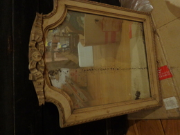 Miroir Ancien 38x48 Cm (peint) - Art Populaire