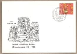 Svizzera - Busta Con Annullo Speciale: 40° Anniversario Della Società Filatelica Di Sion - 1982 - Storia Postale