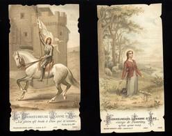 """Lot De Deux """"bienheureuse Jeanne D'Arc"""" Image Pieuse  Bouasse Lebel - Lecene Et Cie   - - Santini"""