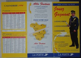 Calendrier Flyer  La Poste  3 Volets  - Avec Votre Facteur - Le Mans - Calendars