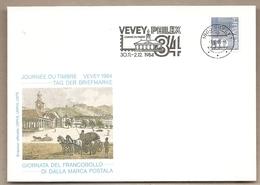 Svizzera - Busta Con Annullo Speciale: Giornata Del Francobollo - 1984 - Storia Postale