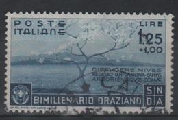 1936 Bimillenario Oraziano Orazio Valore Singolo Usato - Usati