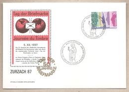 Svizzera - Busta Con Annullo Speciale: Giornata Del Francobollo - 1987 - Storia Postale