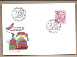 Svizzera - Busta Con Annullo Speciale: Giornata Del Francobollo - 1988 - Storia Postale