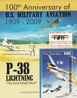 2009 Gambia Military Aviation P-38 Lightning  Souvenir Sheet   MNH - Gambia (1965-...)